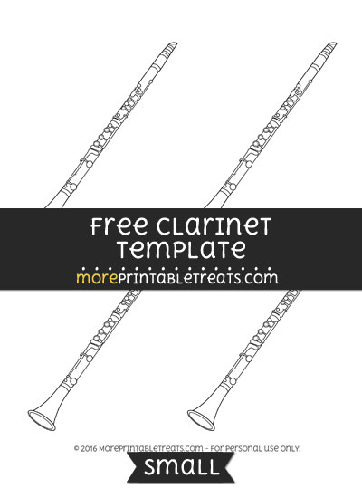 Free Clarinet Template - Small