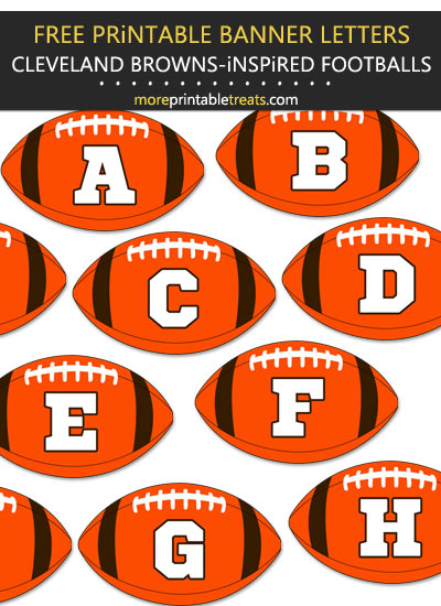 Free Printable Cleveland Browns-Inspired Football Alphabet