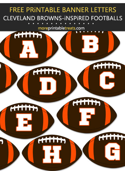 Free Printable Cleveland Browns-Inspired Football Bunting Banner