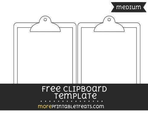 Free Clipboard Template - Medium
