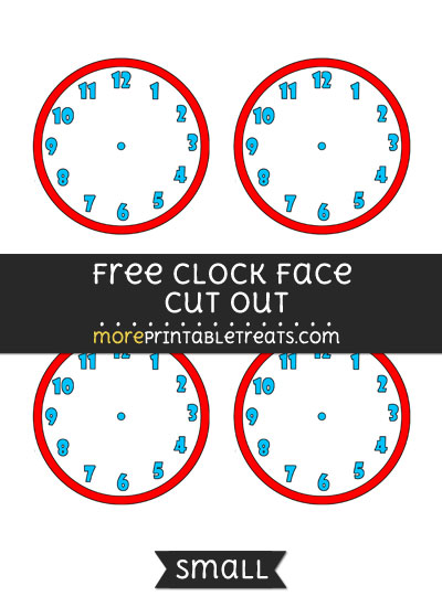 Free Clock Face Cut Out - Small Size Printable