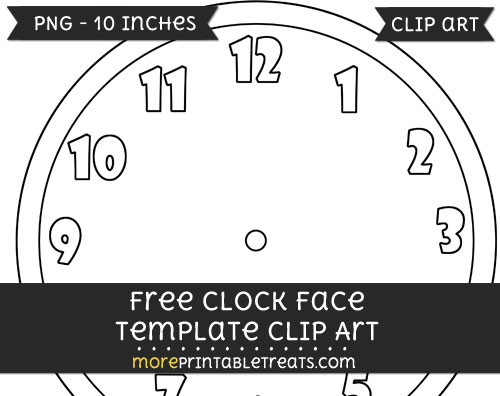 Free Clock Face Template - Clipart
