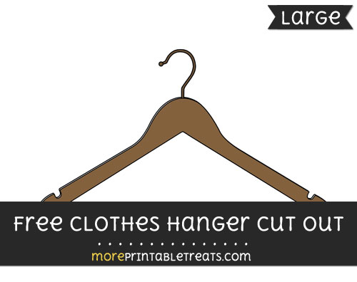 Free Clothes Hanger Cut Out - Large size printable