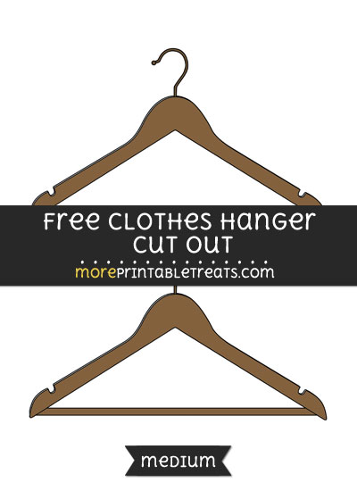 Free Clothes Hanger Cut Out - Medium Size Printable