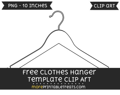 Free Clothes Hanger Template - Clipart