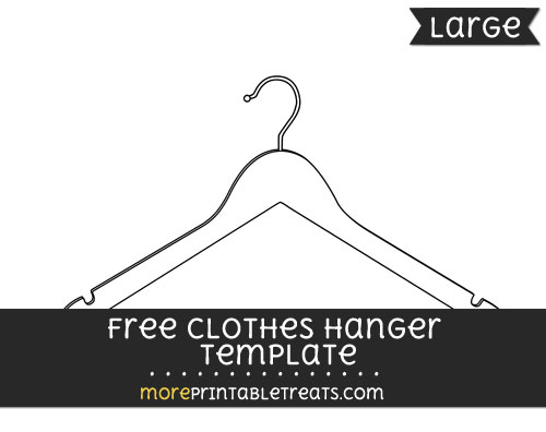 Free Clothes Hanger Template - Large