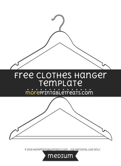 Free Clothes Hanger Template - Medium