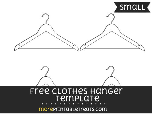 Free Clothes Hanger Template - Small