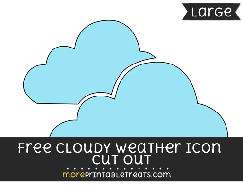 Free Cloudy Weather Icon Cut Out - Large size printable