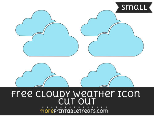 Free Cloudy Weather Icon Cut Out - Small Size Printable