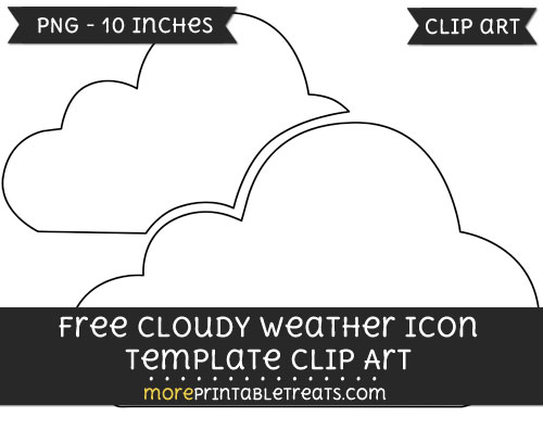 Free Cloudy Weather Icon Template - Clipart