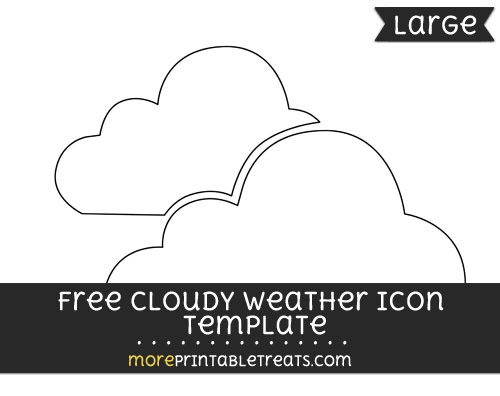 Free Cloudy Weather Icon Template - Large