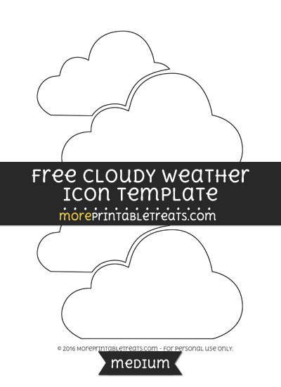 Free Cloudy Weather Icon Template - Medium