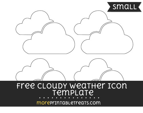 Free Cloudy Weather Icon Template - Small