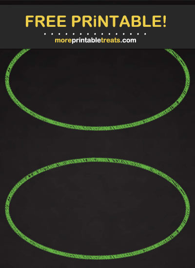 Free Printable Clover Green Chalk Border Oval Labels