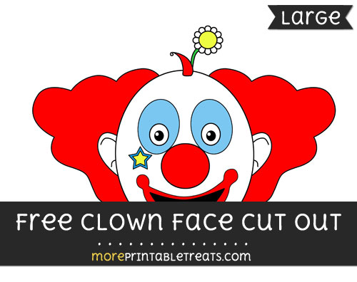 Free Clown Face Cut Out - Large size printable