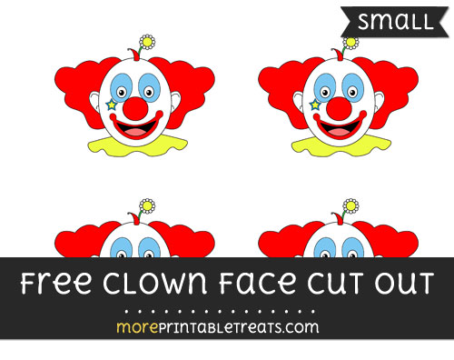 Free Clown Face Cut Out - Small Size Printable