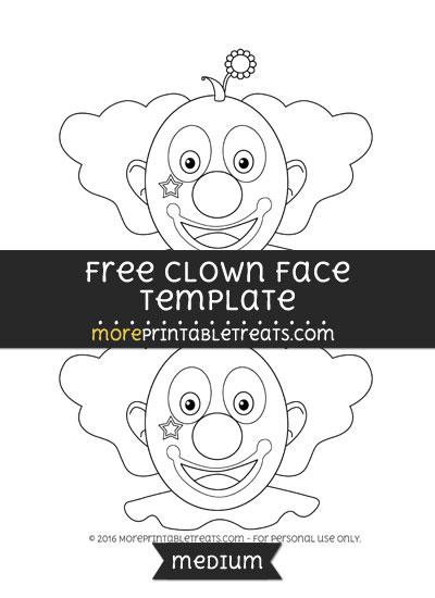 Free Clown Face Template - Medium