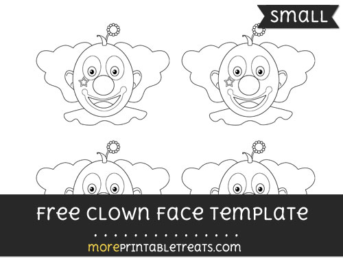 Free Clown Face Template - Small