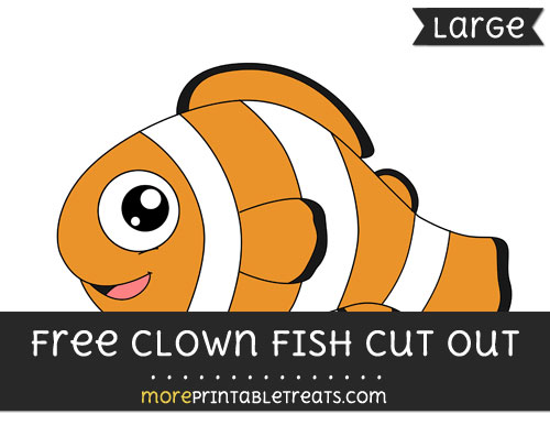 Free Clown Fish Cut Out - Large size printable