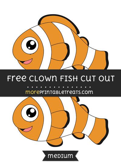 Free Clown Fish Cut Out - Medium Size Printable