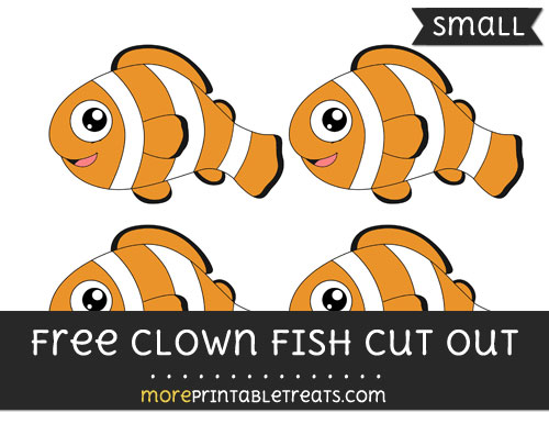 Free Clown Fish Cut Out - Small Size Printable