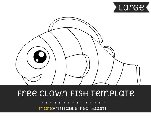 Free Clown Fish Template - Large