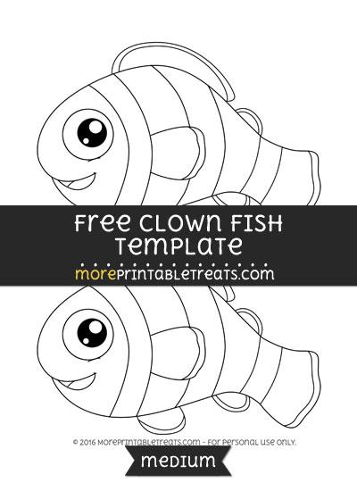 Free Clown Fish Template - Medium