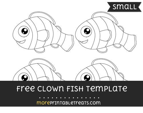 Free Clown Fish Template - Small