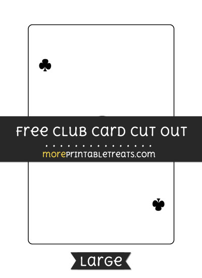 Free Club Card Cut Out - Large size printable