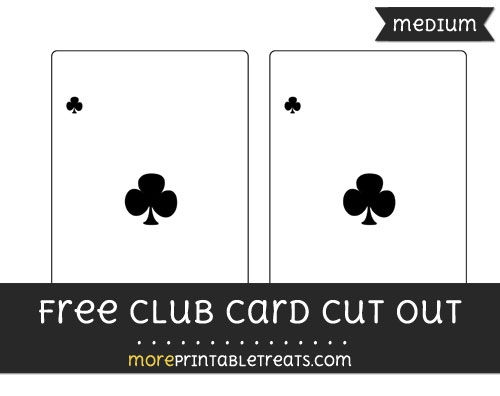 Free Club Card Cut Out - Medium Size Printable