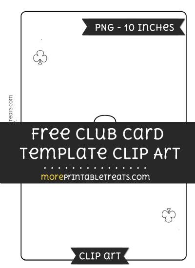Free Club Card Template - Clipart