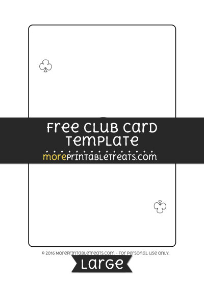 Free Club Card Template - Large