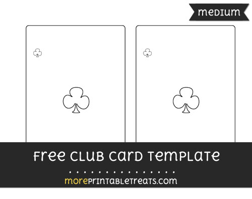 Free Club Card Template - Medium