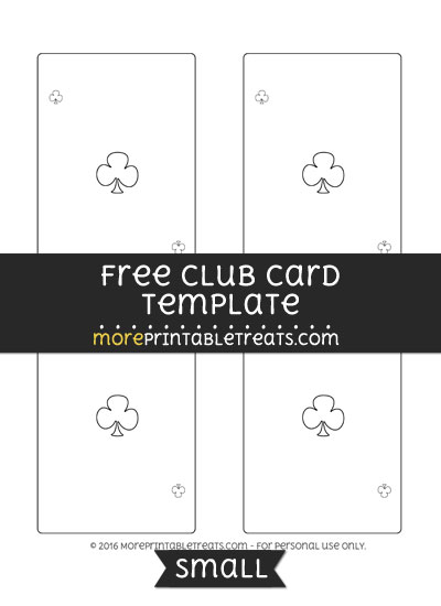 Free Club Card Template - Small