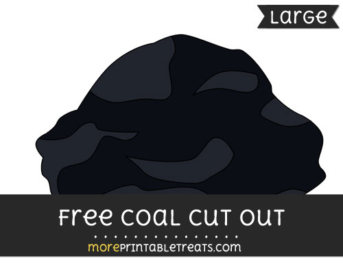 Free Coal Cut Out - Large size printable