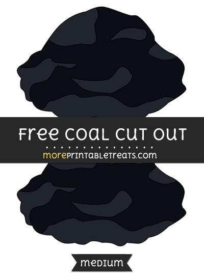 Free Coal Cut Out - Medium Size Printable