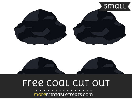 Free Coal Cut Out - Small Size Printable