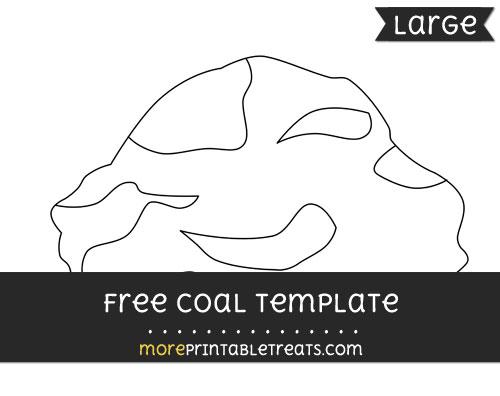 Free Coal Template - Large