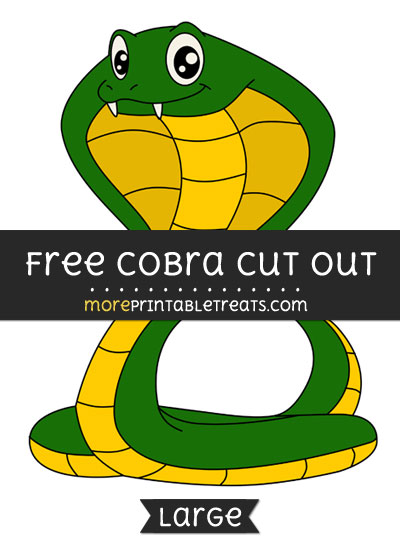 Free Cobra Cut Out - Large size printable