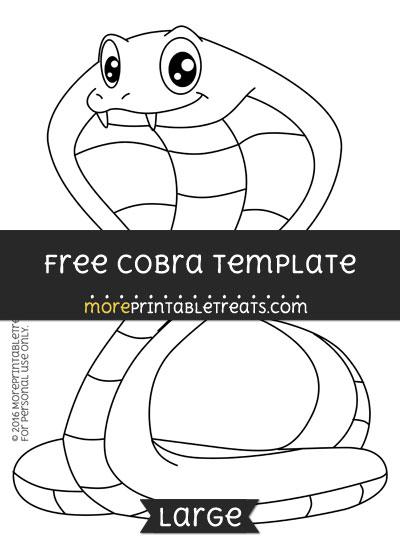 Free Cobra Template - Large