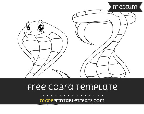 Free Cobra Template - Medium