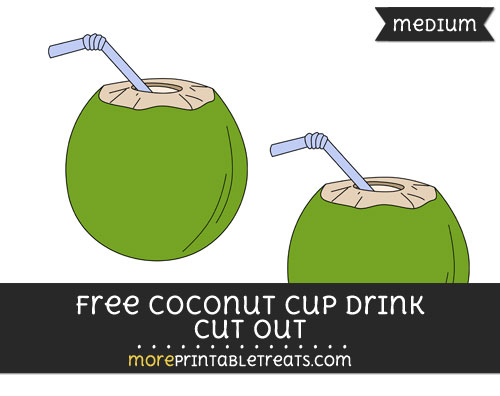 Free Coconut Cup Drink Cut Out - Medium Size Printable