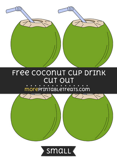 Free Coconut Cup Drink Cut Out - Small Size Printable
