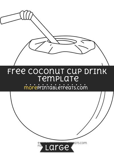 Free Coconut Cup Drink Template - Large