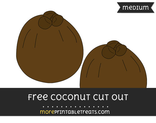 Free Coconut Cut Out - Medium Size Printable