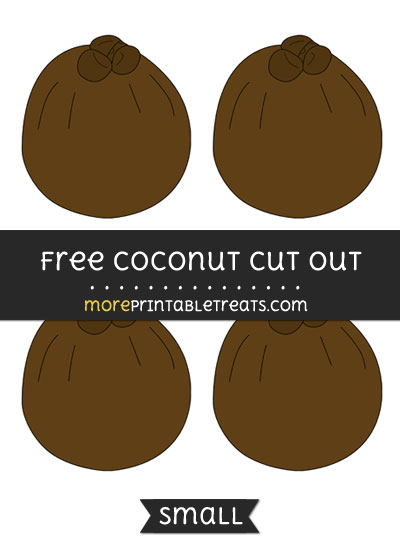 Free Coconut Cut Out - Small Size Printable
