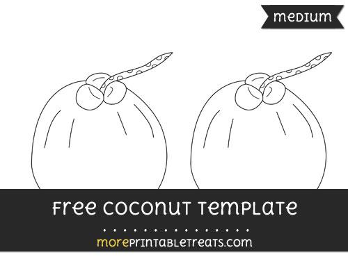 Free Coconut Template - Medium