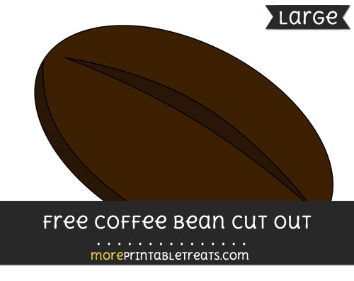Free Coffee Bean Cut Out - Large size printable