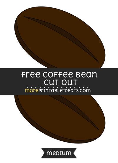 Free Coffee Bean Cut Out - Medium Size Printable